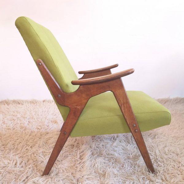 Mid Century Lounge Armchair, Cocktail Chair, Vintage Armchair, Jaroslav Smidek, Yugoslavia 60s