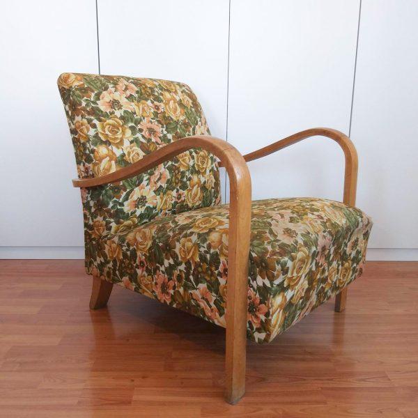 Vintage Armchair, Original 50s Armchair, Art Deco Lounge Chair
