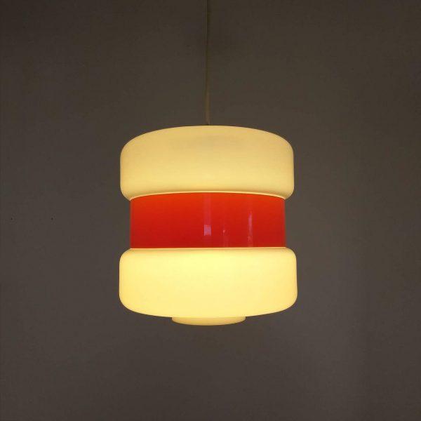 Mid Century Guzzini Pendant Lamp, Vintage Ceiling Light, Italian Design Lamp, 70s