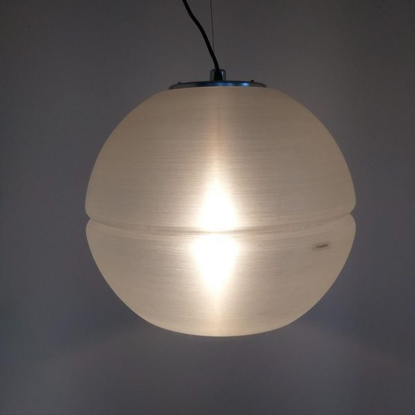 Vintage Spheric Space Age Ceiling Lamp, Adjustable Guzzini Globe Pendant Lamp, 70's, Meblo Guzzini