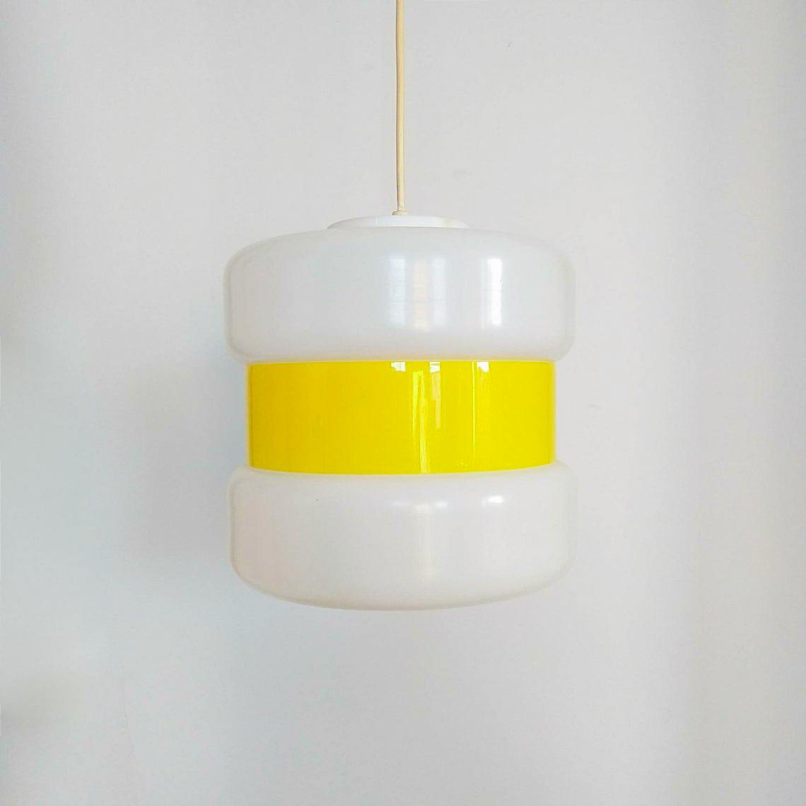 Vintage Guzzini Pendant Lamp, Space Age Ceiling Lihgt, Italian Design Lamp, 70s