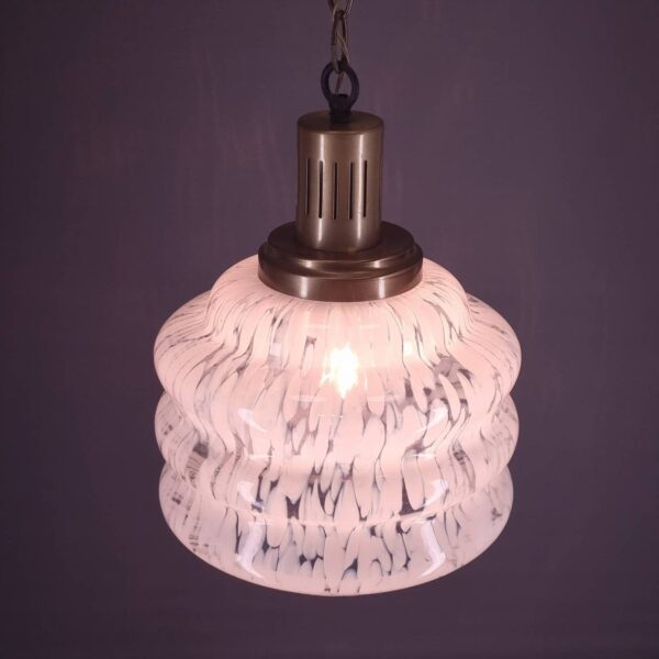Vintage Carlo Nason Style Pendant Glass Lamp, Murano Glass Light, Italian Design, 70s