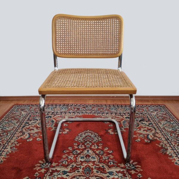 Mid Century Modern Marcel Breuer Cesca Chair, Bauhaus Chrome Chair, Italy, 80s