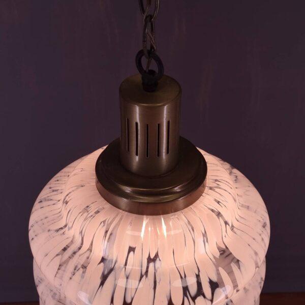 Vintage Carlo Nason Style Pendant Glass Lamp, Murano Glass Light, Italian Design, 70s