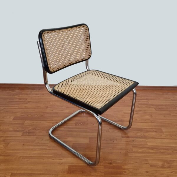 3 Mid Century Modern Marcel Breuer Cesca Chair, Bauhaus Chrome Chair, Italy,80s