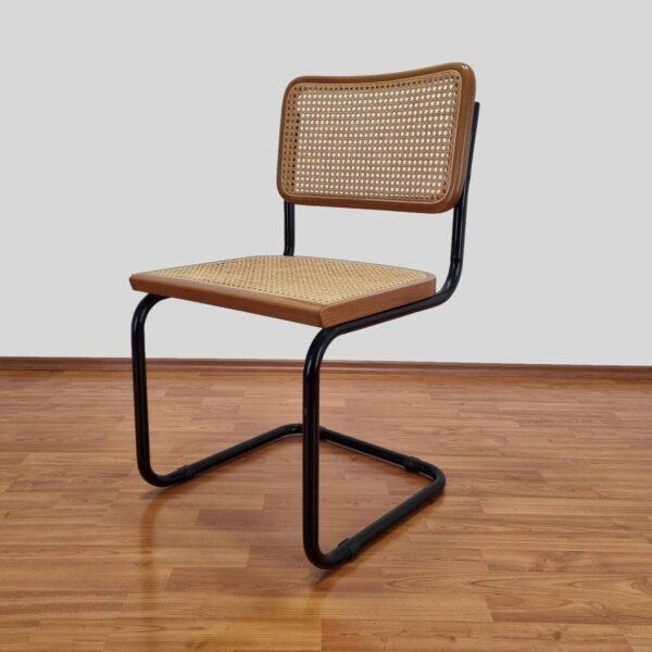 Mid Century Modern Marcel Breuer Cesca Chair, Bauhaus Chrome Chair, Italy,90s