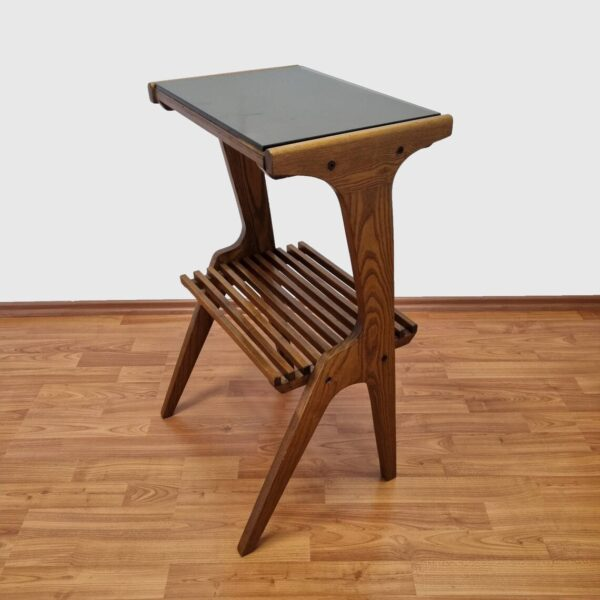 Mid Century Side Table, Vintage Teak End Table,Italy, 60s